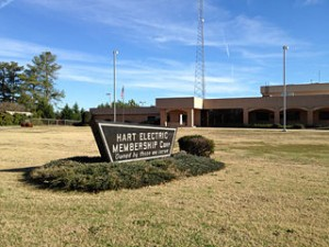 Hart EMC's main office in Hartwell as seen from Georgia highway 77
